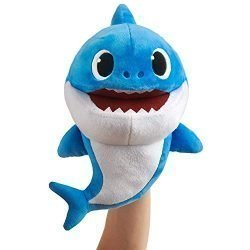 WowWee Pinkfong Baby Shark Official Song Puppet with Tempo Control – Daddy Shark – Interactive Preschool Plush Toy