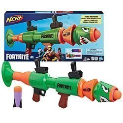 NERF Fortnite Rl Blaster — Fires Foam Rockets — Includes 2 Official Fortnite Rockets — for Youth, Teens, Adults