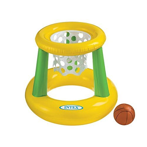 41BzWqOQWL1 - Intex - Floating Hoops 3, Incl Inflatable Pool Hoop and Basketball