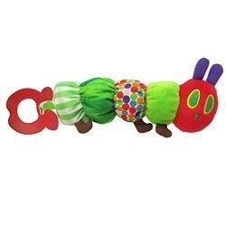 The World of Eric Carle, The Very Hungry Caterpillar Teether Rattle ,Teething Toy for Babies