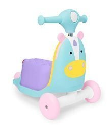 Skip Hop Kids 3-in-1 Ride On Scooter and Wagon Toy, Unicorn