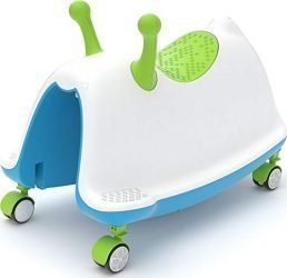Chillafish Trackie, Rocker, Walker, Ride-On & Play Train All-in-One, Blue & Lime