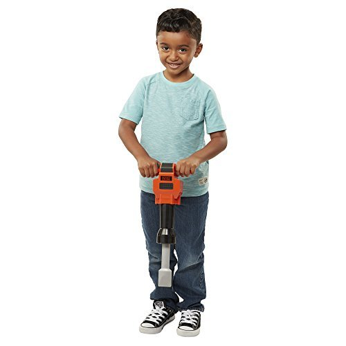 BLACK+DECKER Junior Kids Power Tools – Jackhammer with Realistic Sound & Action! Role Play Tools for Toddlers Boys & Girls Ages 3 Years Old and Above, Get Building Today!