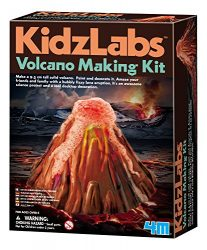 4M KidzLabs Volcano Making Kit – DIY Geology Chemistry Lab STEM Toys Gift for Kids & Teens, Boys & Girls