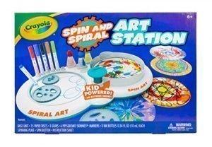 Crayola Spin & Spiral Art Station, DIY Crafts for Kids, Gift, Over 20Piece
