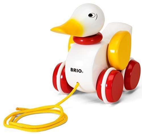 BRIO World – 30323 Pull Along Duck Baby Toy | The Perfect Playmate for Your Toddler