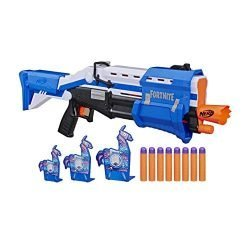 NERF Fortnite TS-R Blaster & Llama Targets — Pump Action Blaster, 3 Llama Targets, 8 Official Mega Darts — for Youth, Teens, Adults (Amazon Exclusive)