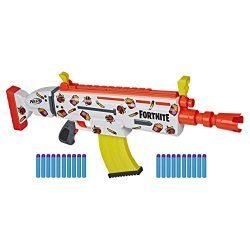 NERF Fortnite AR-Durrr Burger Motorized Blaster — Customizing Stickers, 20 Darts, 10-Dart Clip — for Youth, Teens, Adults (Amazon Exclusive)
