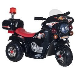 Ride on Toy, 3 Wheel Motorcycle for Kids, Battery Powered Ride On Toy by Lil' Rider  – Ride on Toys for Boys and Girls, Toddler – 4 Year Old, Black
