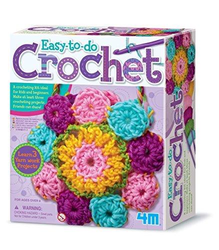4M Easy-to-do Crochet Kit – DIY Arts & Crafts Yarn Gift for Kids & Teens, Boys & Girls