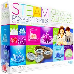 4M Deluxe Crystal Growing Combo Steam Science Kit – DIY Geology, Chemistry, Art, STEM Toys Gift for Kids & Teens, Boys & Girls
