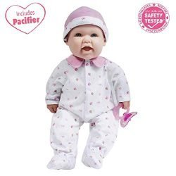 JC Toys, La Baby 16-inch Pink Washable Soft Baby Doll with Baby Doll Accessories – for Children 12 Months and Older, Designed by Berenguer