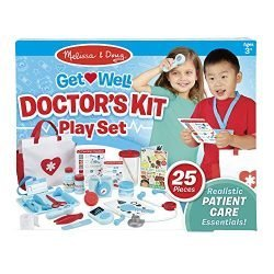Melissa & Doug Get Well Doctor's Kit Play Set, The Original (25 Pieces, Great Gift for Girls and Boys – Kids Toy Best for 3, 4, 5, and 6 Year Olds)