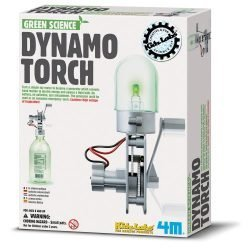4M Green Science Dynamo Torch – DIY Mechanical Green Alternative Energy Lab – STEM Toys Educational Gift for Kids & Teens, Girls & Boys