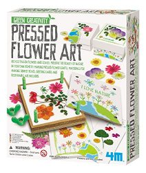 4M Green Creativity Pressed Flower Art Kit – Arts & Crafts DIY Recycle Floral Press Gift for Kids & Teens, Girls & Boys