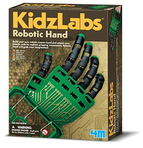 4M Kidzlabs Robotic Hand Kit – DIY Mechanical Robot Science – STEM Toys Educational Gift for Kids & Teens, Girls & Boys
